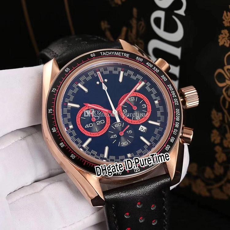0361497f Sale New Solar Impulse HB SIA Rose Gold Black Dial Red Subdial Miyota  Quartz Chronograph Mens Watch Leather Stopwatch Sports Watches OM360c3  Wrist Watches ...