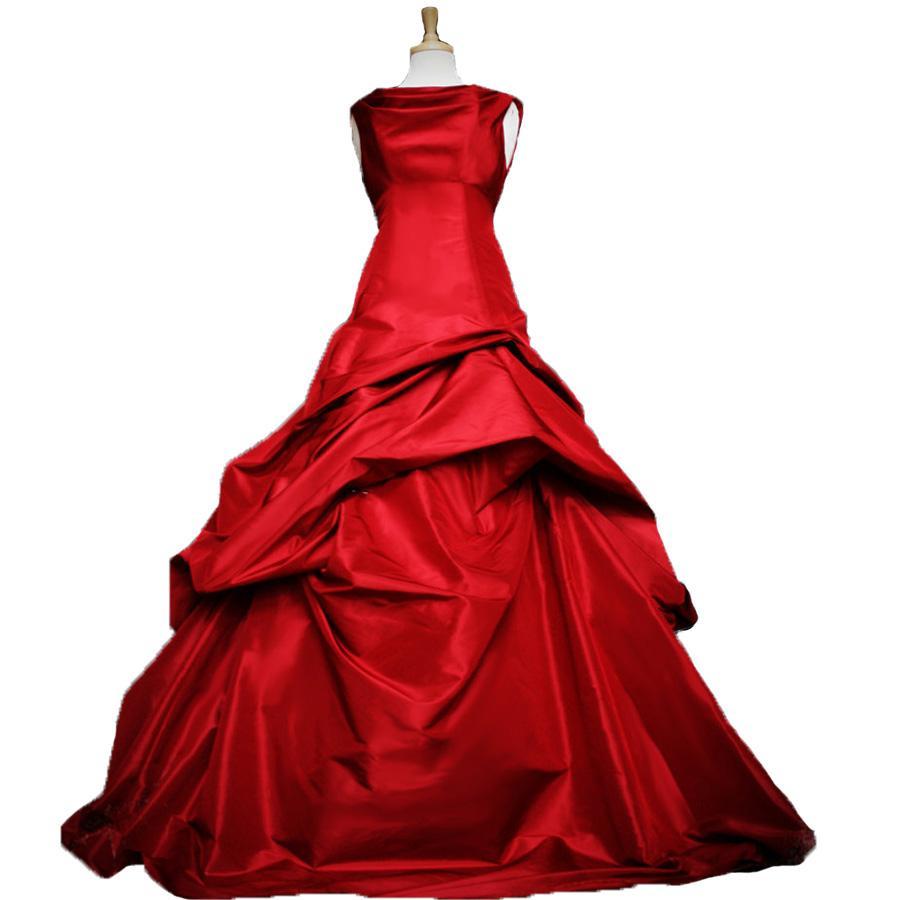 Red Wedding Dresses 2018 New Taffeta Purple Western Country Wedding ...