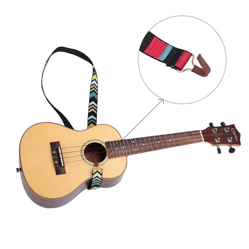 2019 Nylon Ukulele Neck Mounted Strap Ukulele Hook Strap Neck