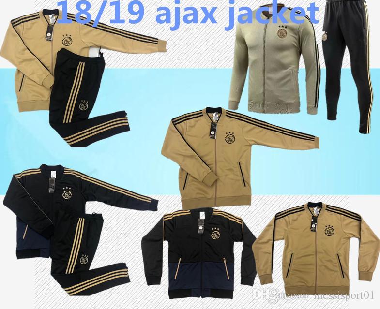 Compre Fato De Treino Ajax 18 19 Survetement ZIYECH TADIC HUNTELAAR SCHONE  2018 19 Ajax Fc Jaqueta De Futebol Jaqueta De Futebol Chandal De  Messisport01 4260c33ee0c63