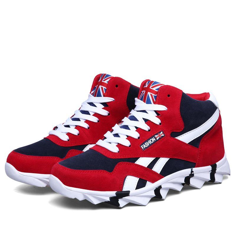 b57bbdbda8a7a Compre Zapatillas De Deporte De Alta Calidad Para Hombres Zapatillas De  Deporte Altas Exteriores Zapatos De Deporte Cómodos Hombre Caminar Jogging  Con ...