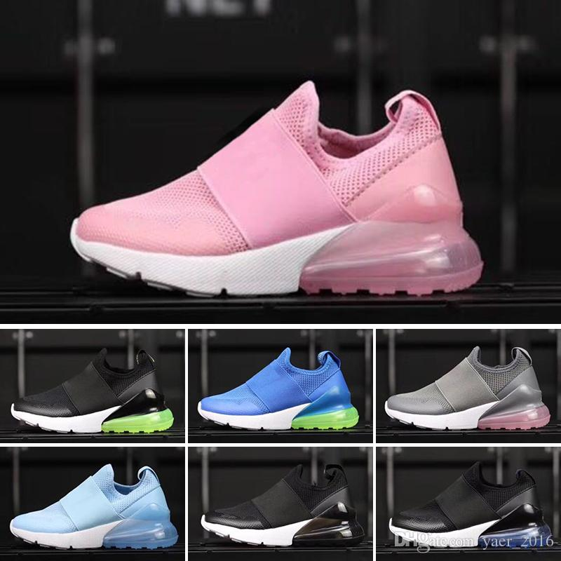 sports shoes 78a62 37c5b 2018 Hot 270 OG Mesh Breathable Kids Running Shoes Originals 27C OG Half  Palm Aircushion Shock Absorption Kids 270s Sports Sneakers