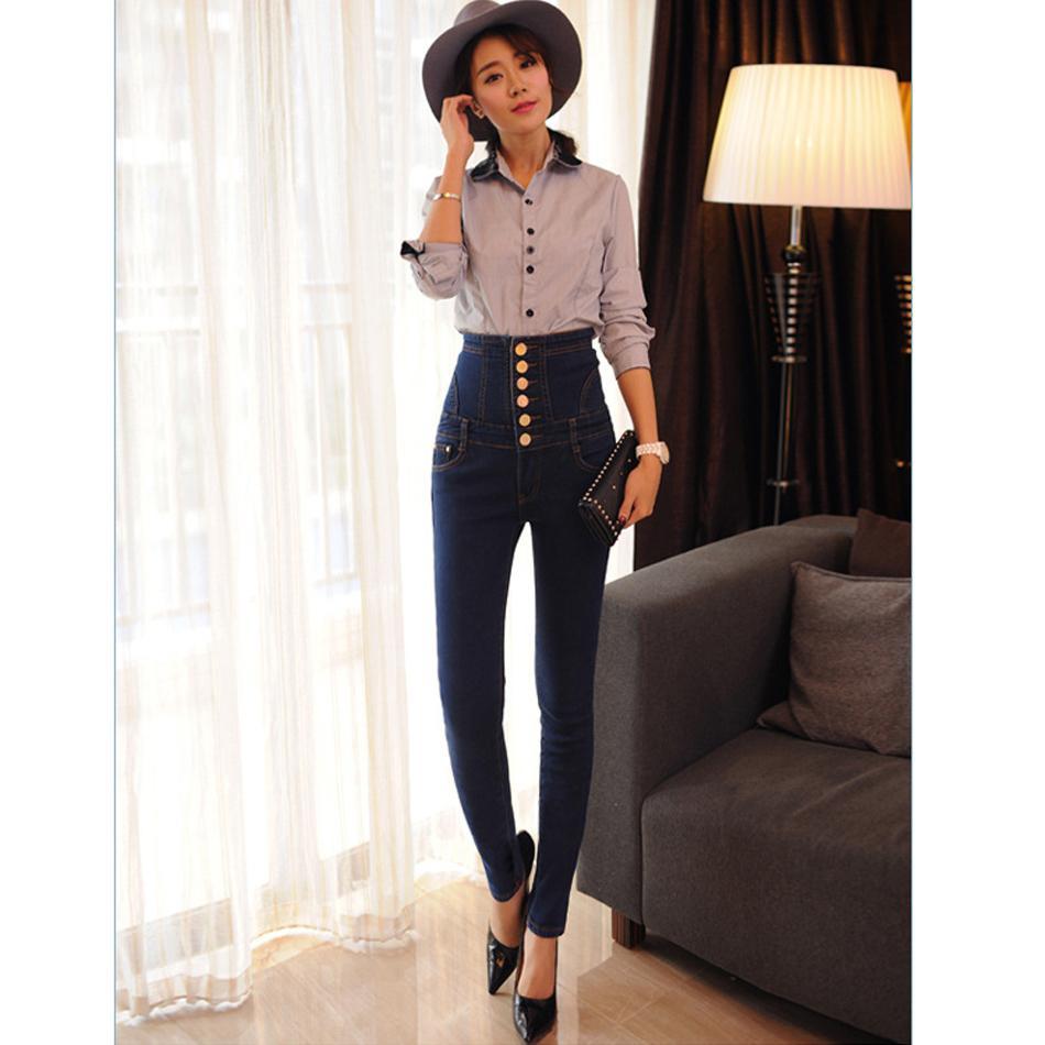 Acheter Velours Chaud Jeans Femmes Avec Taille Haute Étirement Serré Noir  Jeans Bleu Femelle Hiver Chute Velours Crayons Skinny Pants De  45.72 Du ... 1a70148b6893