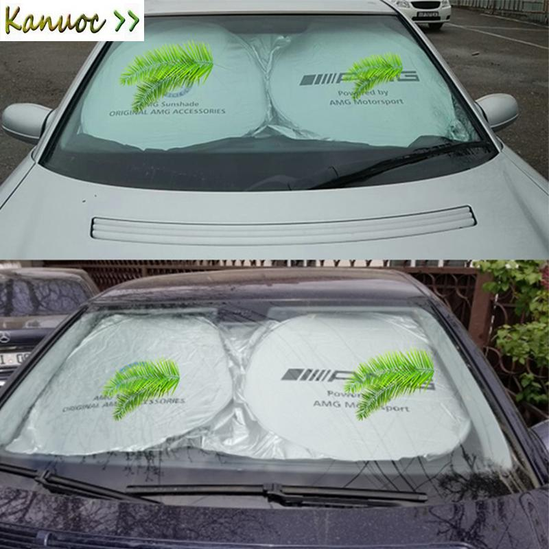 Car Front Windshield Sunshade Foldable Car Window Solar Protection Cover  For Mercedes AMG Logo Cover Accessories Cheap Auto Parts Classic Auto Parts  From ... 202580e8360