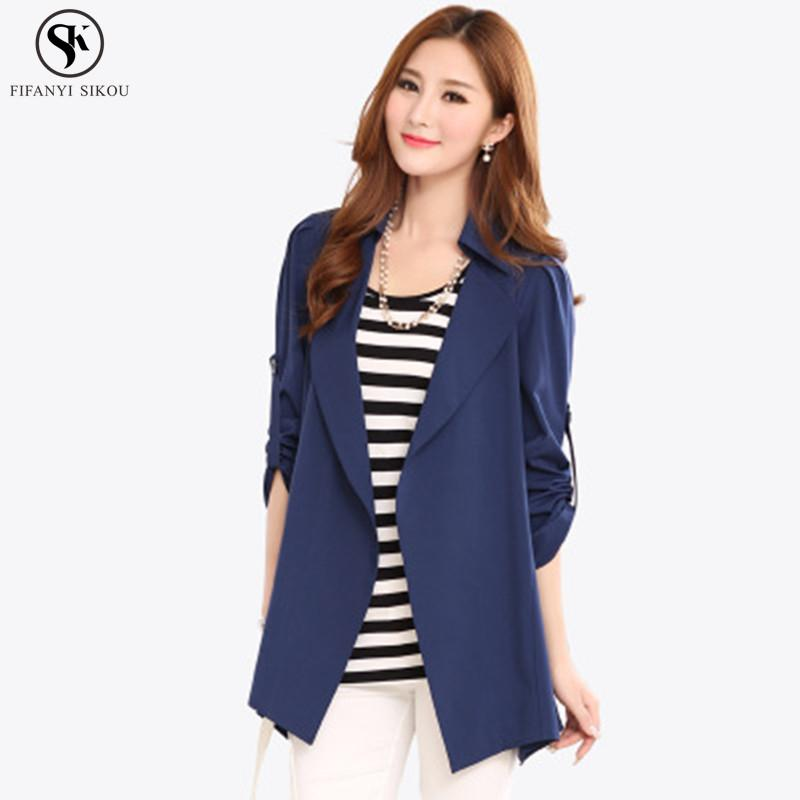 Spring Autumn Women s Clothing Coat Simple Fashion Solid Windbreaker Slim  Plus Size Casual High Quality Coats Female LGP349 Trench Cheap Trench  Spring ... e9ac55011