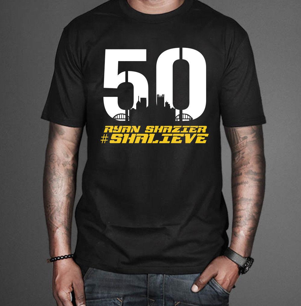 quality design 16f79 2028b Ryan Shazier T-Shirt Pittsburgh Football Team Tribute 50 Shalieve