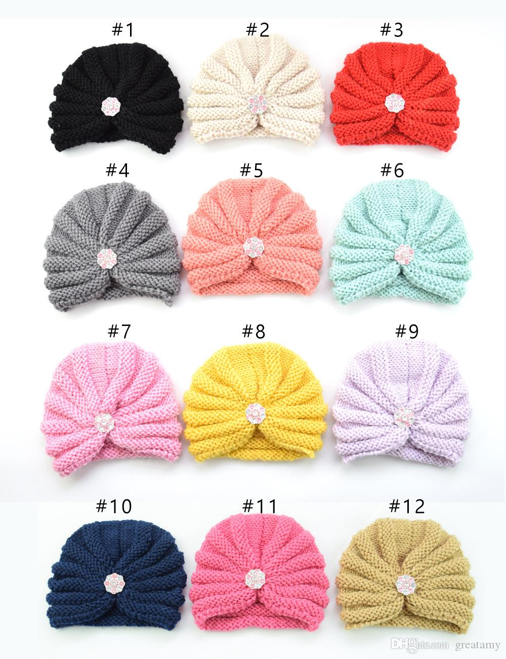 1bdc84c881e 2019 New Cute Children S Wool Thread Cap Baby Knit Hat Autumn And Winter  Warm Hat Bonnet Cap From Greatamy