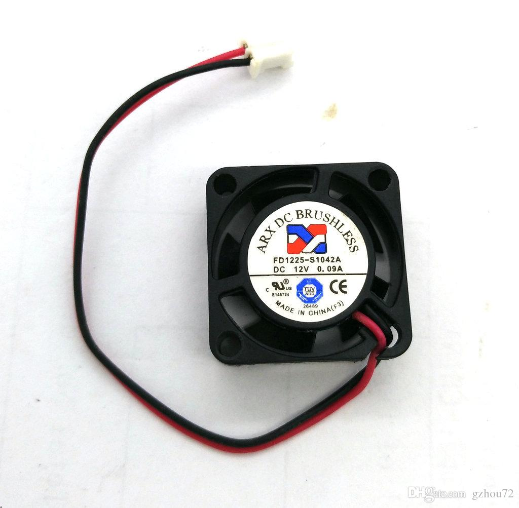 Original FD0525-S1042A DC5V 0.19A FD1225-S1042A DC12V 0.09A 25*25*10MM 2Lines Hard Disk cooling fan