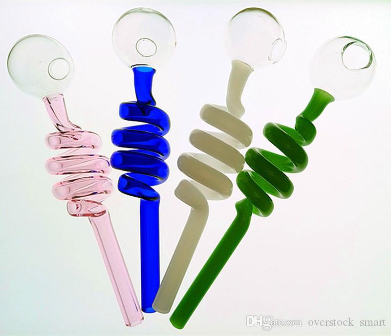Bruciatore a gas da 5,5 pollici Tubo di vetro Tubo in vetro Pyrex Bruciatore a gas in vetro Tubo stretto Tubi di vetro Tubi colorati