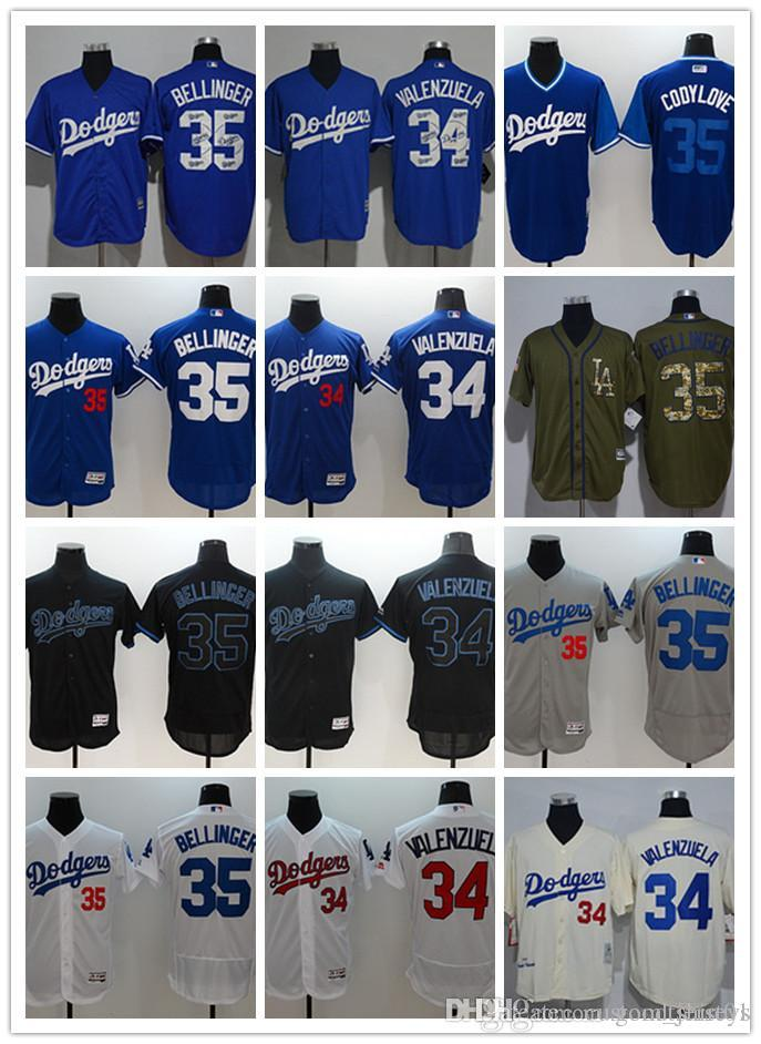 483dcffd0 ... 2019 custom men women youth los angeles dodgers 34 fernando valenzuela  35 cody bellinger blue grey