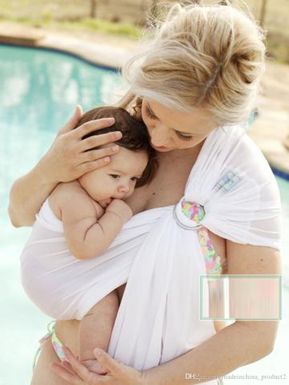 New Baby Cotton Carriers Ring Slings Toddler Infant Comfortable Breathable Loop Sling Baby Multifunctionalback Towel Strap