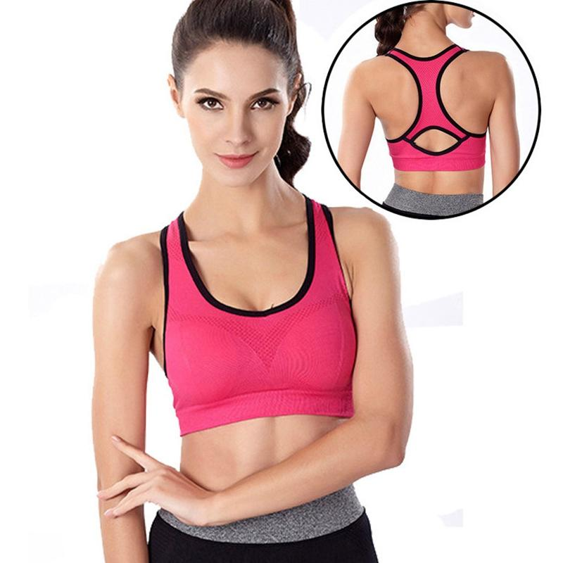 5af235c8e5473 Absorb sweat quick drying women sports bra vest type fitness exercise  running sport bra top plus