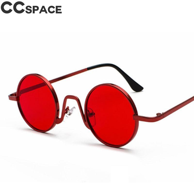 129e604b41 Round Steam Punk Sunglasses Men Women Retro Metal Fashion Shades ...