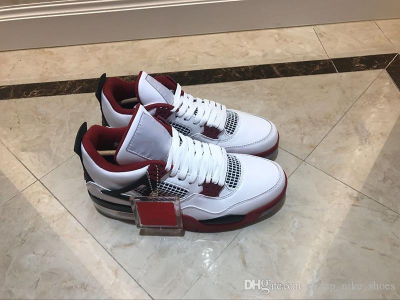 6c89e64a3144 2019 2019 Return High Quality 4 OG Fire Red Men Basketball Shoes 4s Classic  White Red Black Blue Designer Sports Sneakers For Male From  Cheap nike shoes