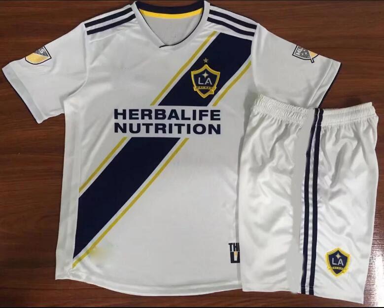 big sale 9580e 31fd0 AAA LA Galaxy Soccer Jersey KIDS kit home 18 19 IBRAHIMOVIC GIOVANI ZARDES  GERRARD children Football new 2018/19 LA Galaxy kids kits
