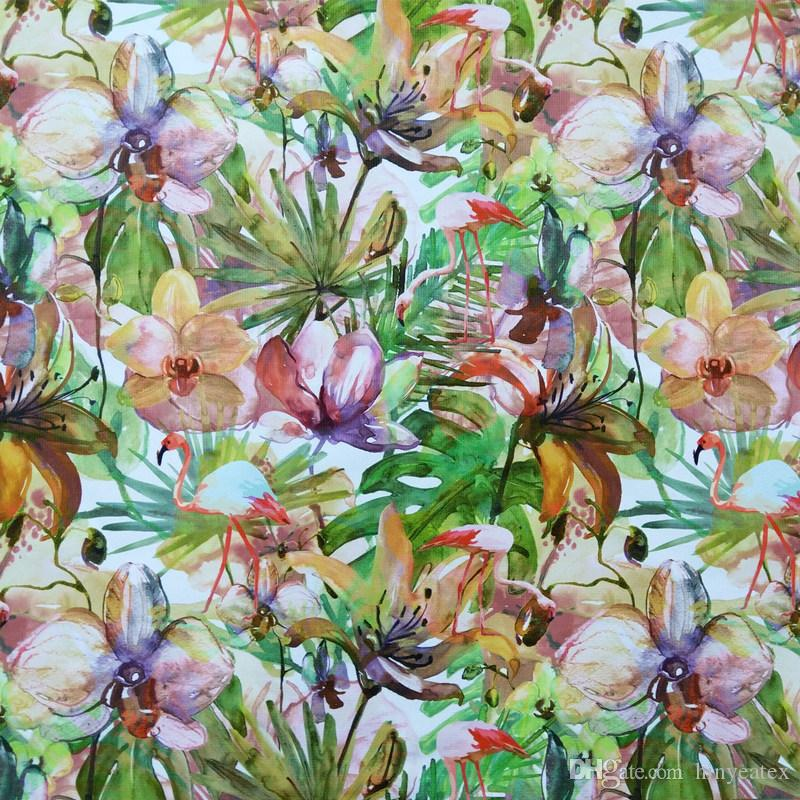 2019 Tropical Flamingo Plant Digital Print Leaf Chair Upholstery