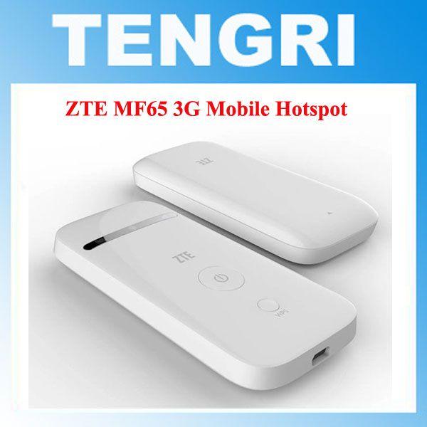 Original Unlocked ZTE MF65 HSPA+ 21 6Mbps 3G 2100MHz Wireless Router Pocket  WiFi Mobile Broadband PK MF60 MF61 MF62