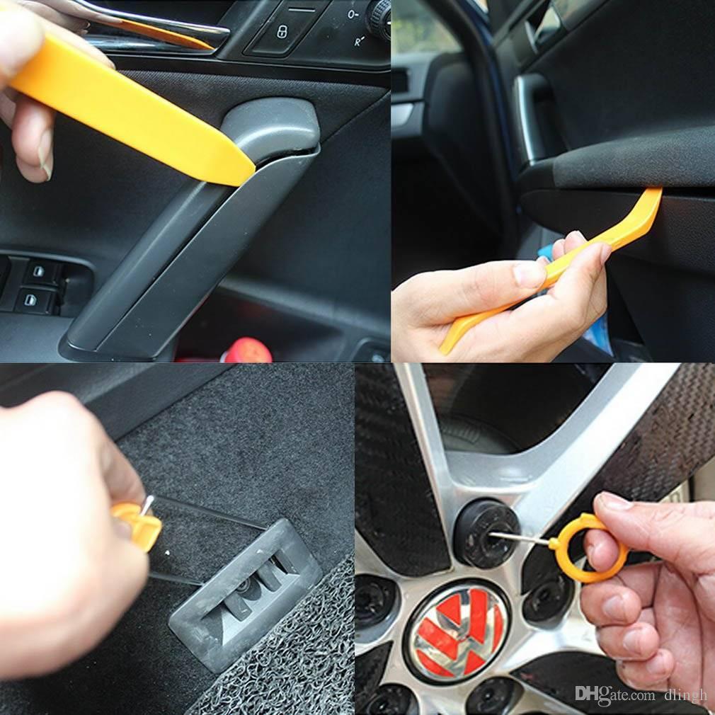 12pcs/Set Auto Car Radio Door Clip Panel Trim Dash Audio Removal Pry Repair  Instraller Tool Kit Plastic Universal