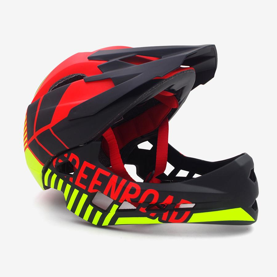 2019 Red Children Adult Cycling Helmet Fullface Off Road Dh Mountain