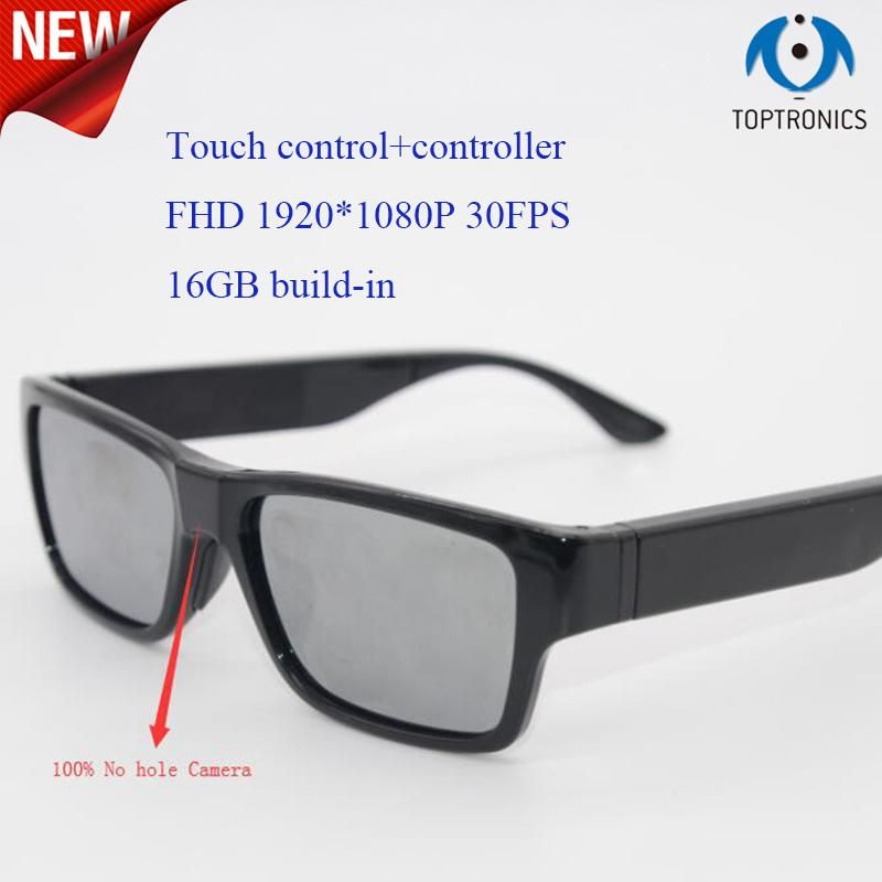 3735d90446 2019 2018 New No Hole 1080P Camera Smart Glasses With 16GB Touch Shutter  Control +Controller Mini Camera Mini DV Camcorder DVR Video From Athenal