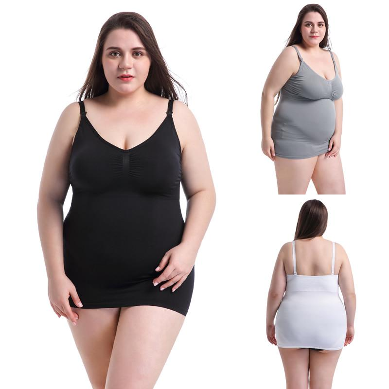 7c78b59ebd 2019 Maternity Intimates High Elastic 5XL Nursing Tank Tops For  Breastfeeding Seamless Wire Free Bra For Pregnant Women Big Size Cami From  Breadfruiter