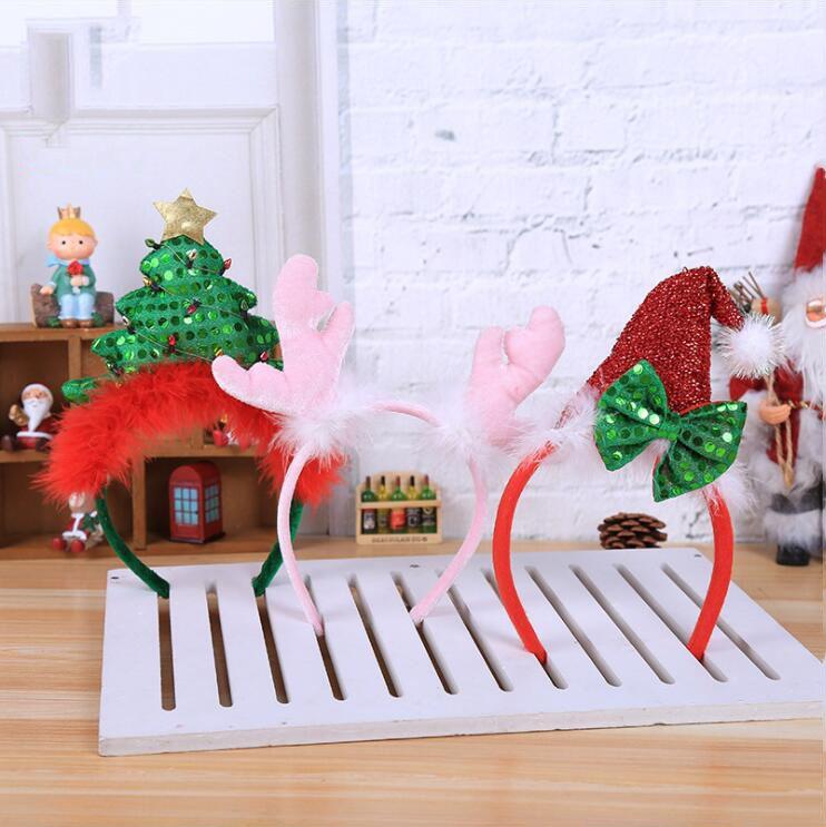 Großhandel Weihnachtsbaum Geweih Hut Design Party Stirnband ...