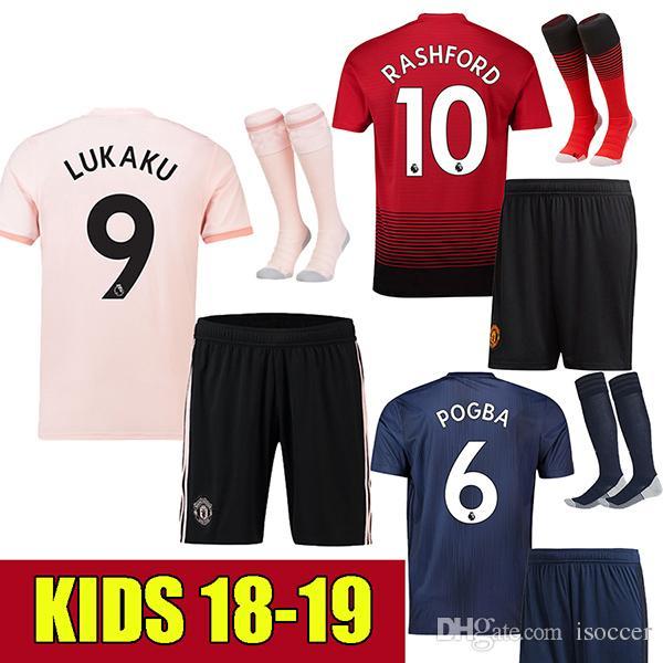Compre Crianças Manchester United Kids 18 19 Man Utd ROONEY Camisa De  Futebol 2018 2019 POGBA MARTIAL Camisa De Futebol MATA Crianças MKHITARYAN  Camiseta ... 8d91119a5a209