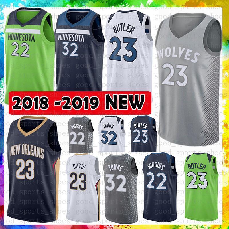 a1a300435 Minnesota Timberwolves Jersey 23 Jimmy Butler 32 Karl-Anthony Towns ...
