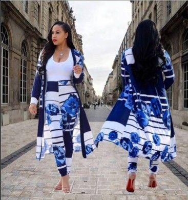 Die ersten Explosion Modelle 2018 europäischen und amerikanischen Mode Digitaldruck Mantel Leggings Casual Anzug CM202