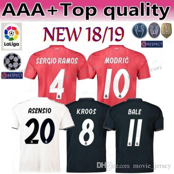 huge discount 6b0e2 21d8a 18 19 Season Men Camiseta de Futbol Real Madrid Soccer Jerseys Champions 5  VARANE 6 NACHO 19 Odriozola 16 JUNIOR Football Shirt Kits