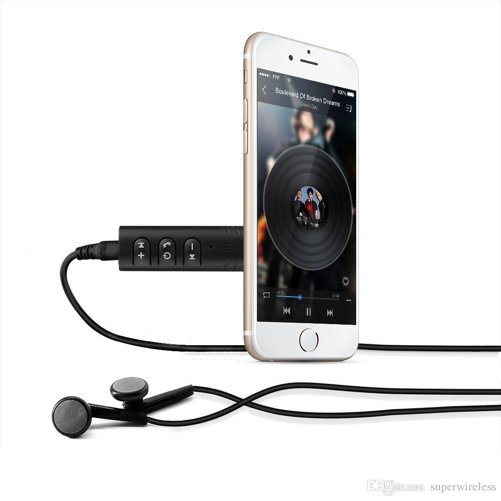 Adaptador de receptor Bluetooth para coche Adaptador inalámbrico Aux. 3.5 mm Jack Adaptador de audio y audio Bluetooth Equipo para auto con micrófono
