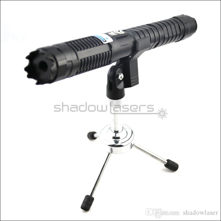 Shadowlasers Black BX7 Military Adjustable Focus 450nm Blue Laser Pointer Laser Torch Visible Lazer Beam 3 Switch Modes & 2*26650 Batteries