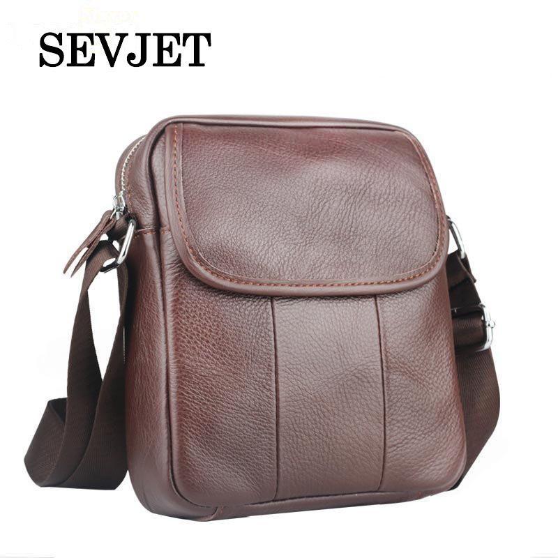 2017 Hot Sale Enuine Leather Men Shoulder Bags Crossbody Handbags ... 2e9e1c75f9d92