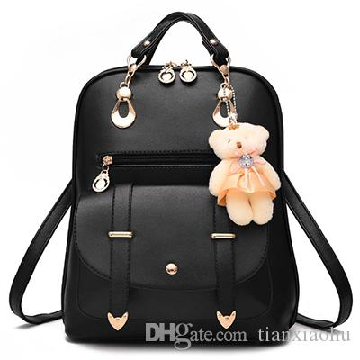 72ef95047e20 2018 Fashion Women Backpacks PU Leather High Quality Waterproof Backpacks  Travel School Bags Casual Backpacks For Teenage Girls Fashion Backpacks  Casual ...