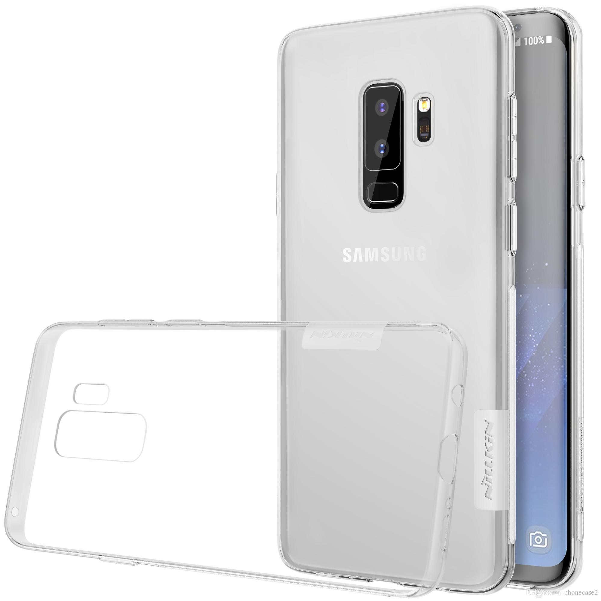 new concept bb0d7 324ed TPU Transparent soft case for Samsung Galaxy S9 S9 PLUS S7 NILLKIN Nature  Series Luxury brand with retailed package