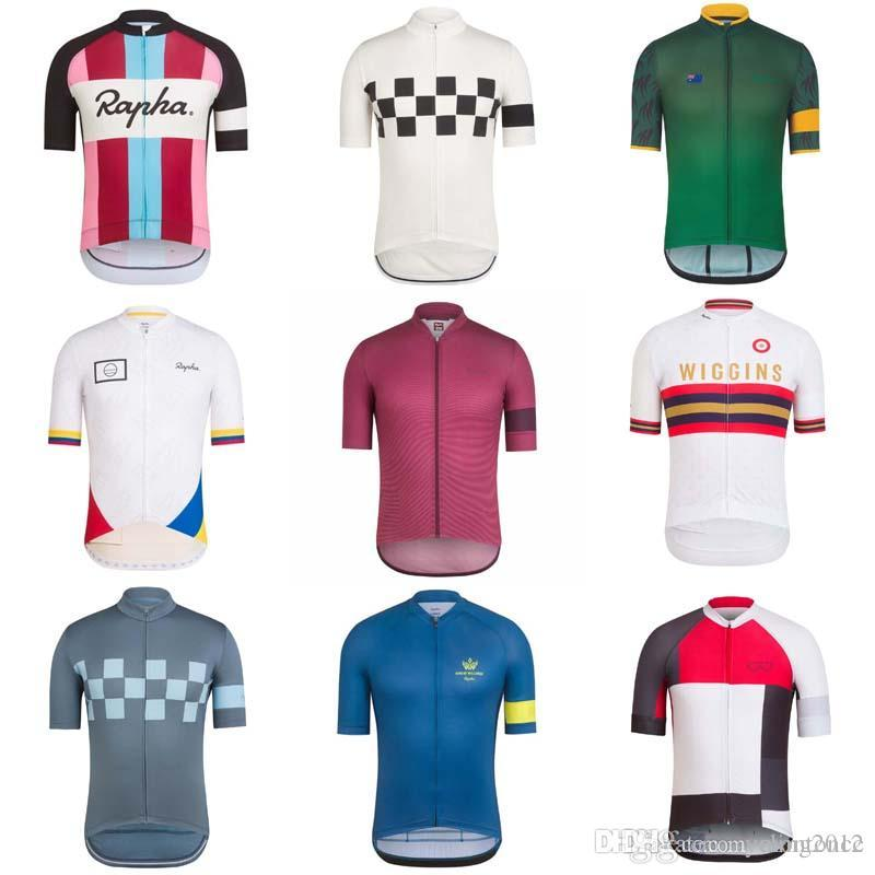RAPHA Team Cycling Short Sleeves Jersey Newest Summer Men S Bike Shirt  Bicycle Clothes Breathable Quick Dry Ropa Ciclismo F1 V Neck T Shirt Sports  Shirts ... 66766b5f6