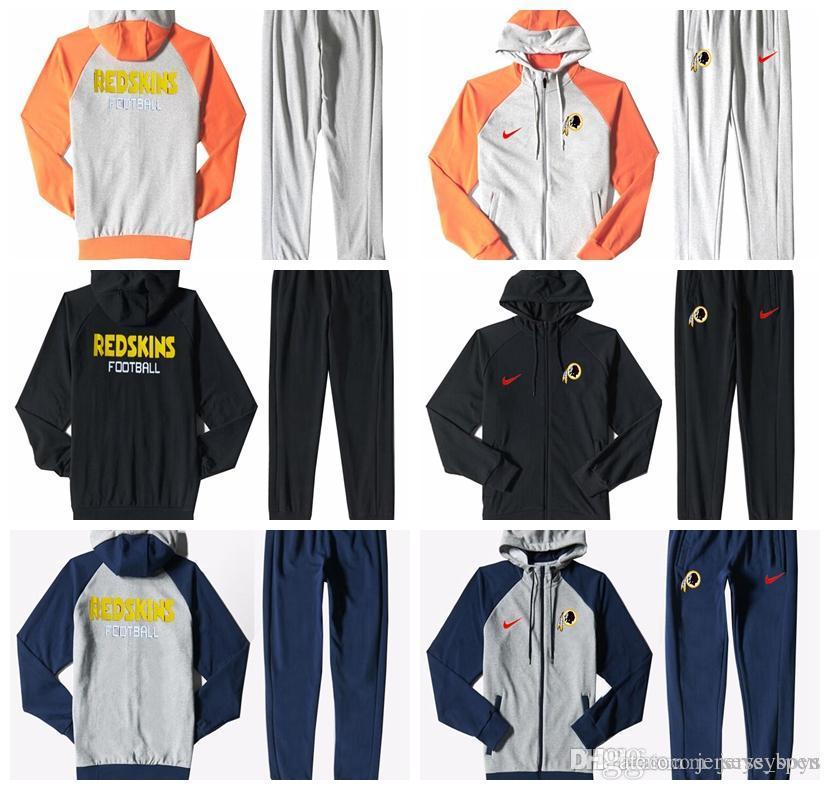 low priced 2c631 49b1b Washington Redskins Men S Print Full Zip Sports wear Men S Sport Suit  Bodysuit Plus Pantsuit Blue Ash Black Orange white splicing