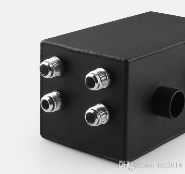 4-connector aluminum Breathable Oil can 2-empty filter tank for Honda Civic Integra EK