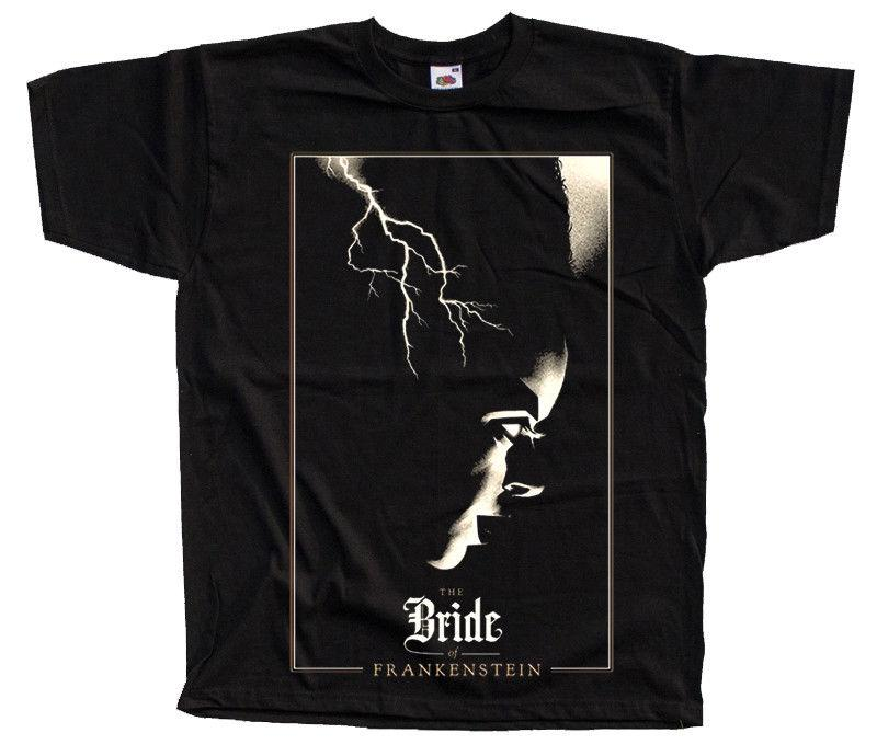 b578975d8062 THE BRIDE OF FRANKENSTEIN V5 Movie Black T SHIRT ALL SIZES S 5XL High  Quality Custom Printed Tops Hipster Tees Short Sleeve Vintage Tee Shirts  Family T ...
