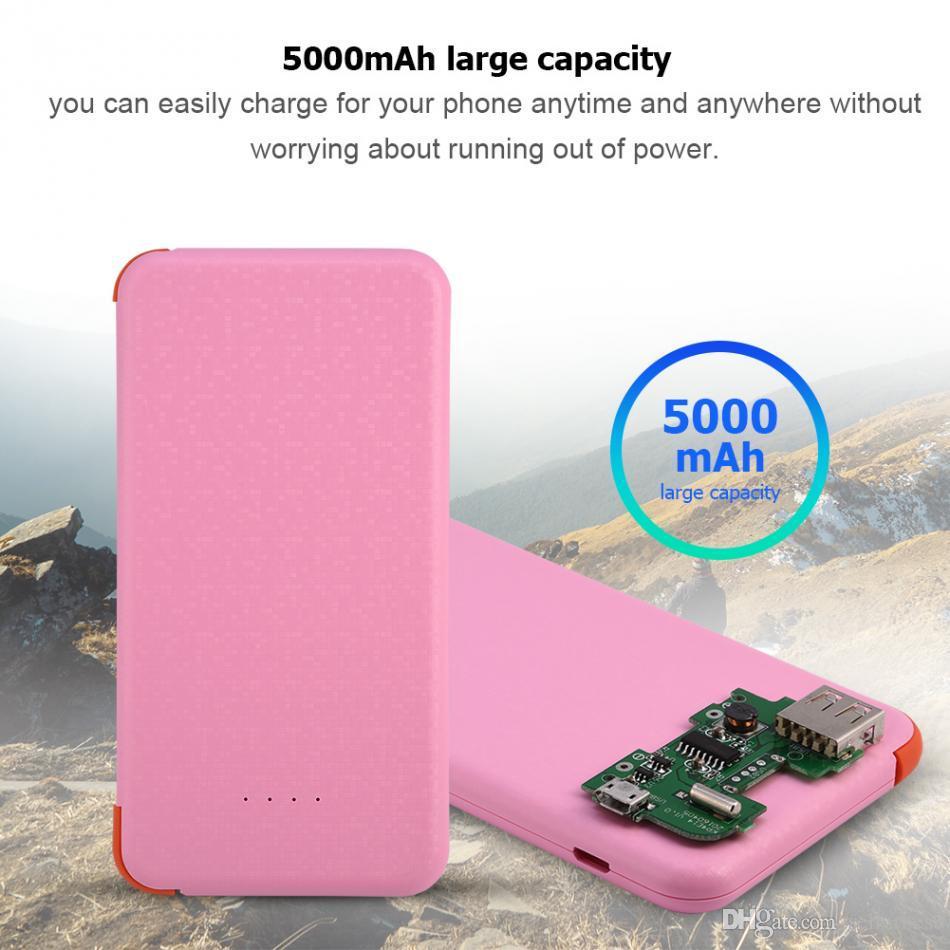 Mobile Power Bank Case Kit Nécessite l'installation Universel pour téléphones Tablettes Portable Extérieur 2A Charge rapide