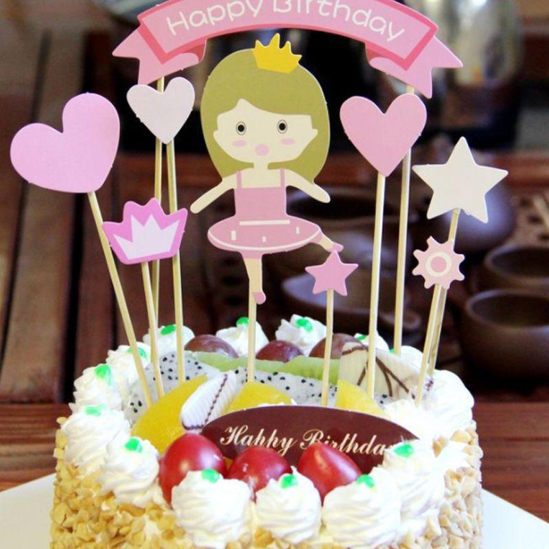 Grosshandel 1 Satz Baby Dusche Kuchen Topper Kinder Happy Birthday