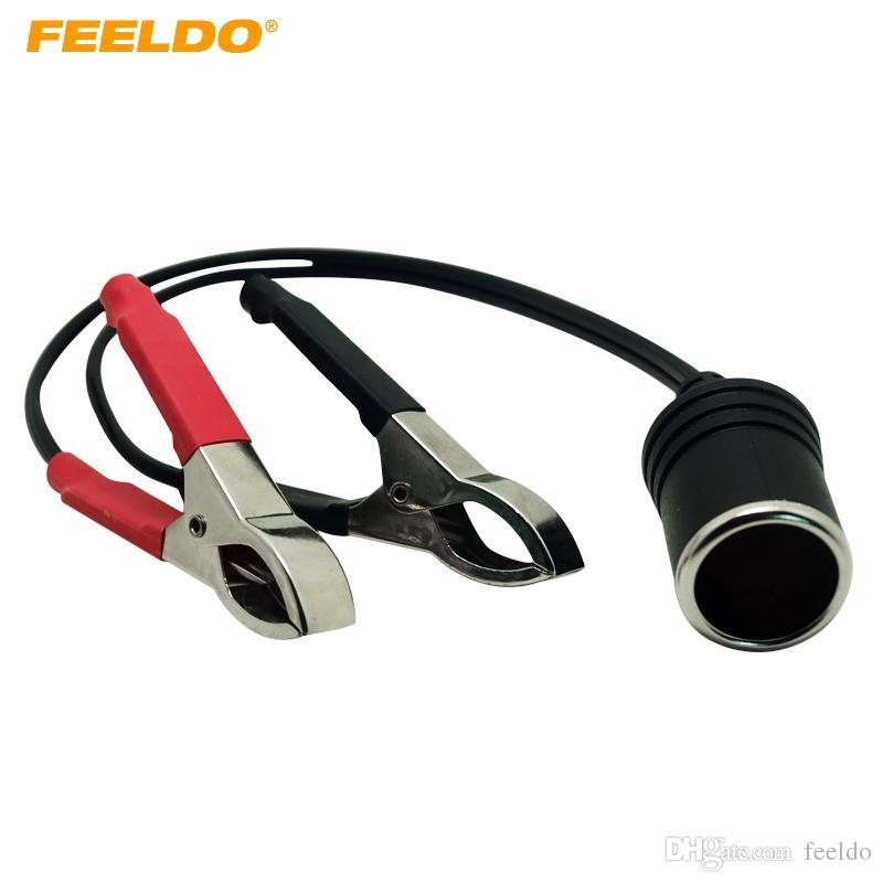 Feeldo Dc12v Battery Terminal Clip On Cigar Cigarette Lighter Power