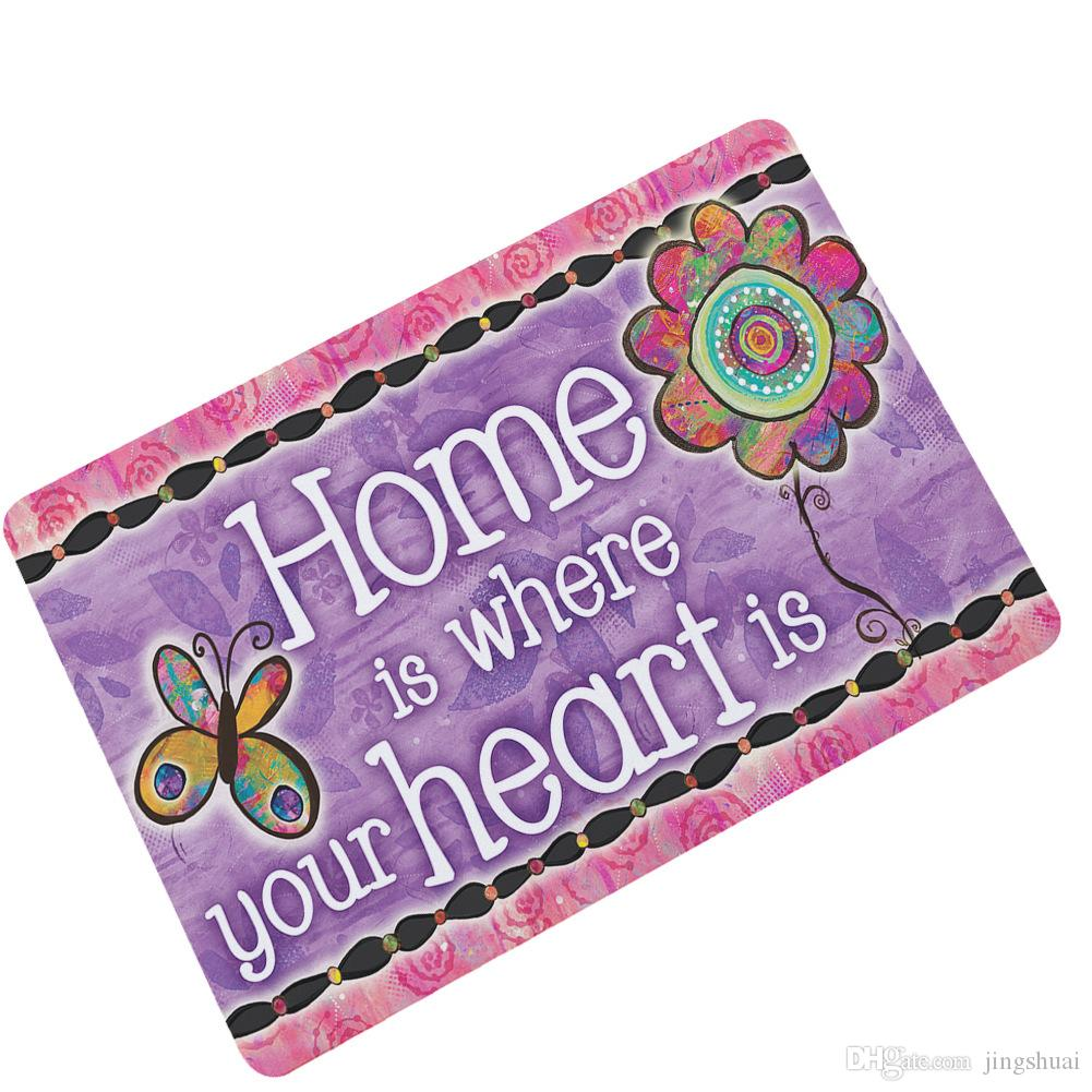 Trust Rubber Custom Mat Butterfly Front Door Mat Welcome Home Outdoor Non-slip Indoor Kitchen Rug Doormat Entrance Floor mat