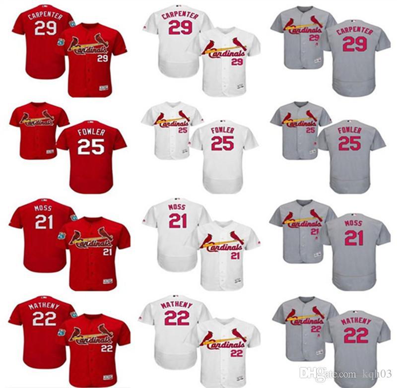 2018 2018 Custom Men S Women St. Louis Cardinals Jersey  21 Brandon Moss 22  Mike Matheny 25 Dexter Fowler 29 Chris Carpenter Baseball Jerseys From  Kqh03 56e68b9260