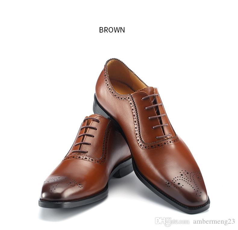 eeb1c5a246ab Men S British Brogue Shoes Leather Flats Shoes Italian Business Oxfords  Large 46 47 Size Oxford Wedding Shoes Nude Shoes Womens Sandals From  Ambermeng23