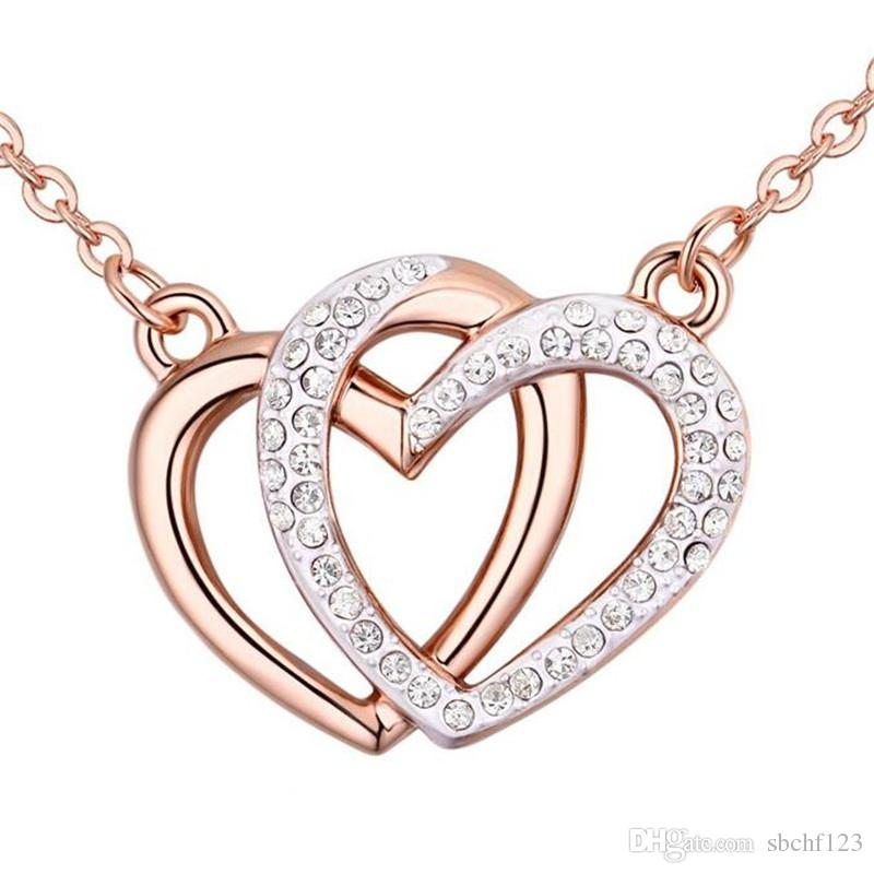 315548c9be4f40 Wholesale High Quality Trendy Cupid Hearts Chain Necklaces Crystals Form  Swarovski Elements Women Jewelry Best Gift 24798 Gold Chains Diamond  Necklace From ...