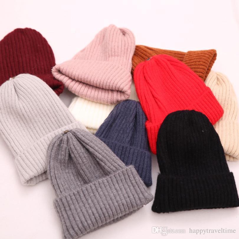 ba31f7769f0 Women Men Beanie Hat Knitted Kids Girl Boy Warm Winter Cap Ski Skull Hat  Unisex Plain Cuffed Chapeau Hut Sombrero Kalap Cappello Women Beanie Hat  Girls Hat ...