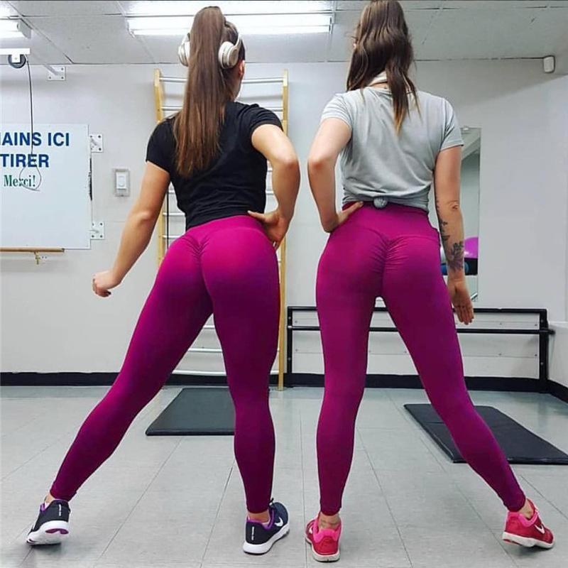 2564dc19f48b1 2019 European Station Hot Fashion Ladies Fitness Pants High Elasticity  Sports Leggings Female Yoga Running Fitness New Hip Tights From Wang19882,  ...