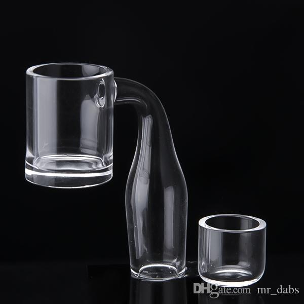 5mm Thick bottom Quartz Banger Nail & Replace Insert Bowl OD 25mm Flat Top Bucket Quartz Bnager 10mm 14mm 18mm Male Female at mr_dabs