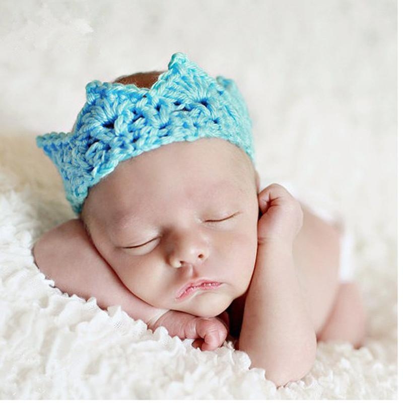 Newborn Baby Knitted Crown Hair Accessories For 0 10 Month Child ...